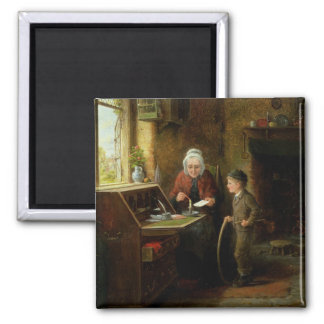 Sealing a Letter, 1890 (oil on panel) Magnets