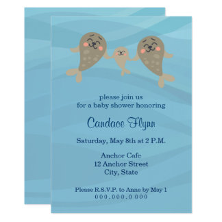 Seals Baby Shower Invitation