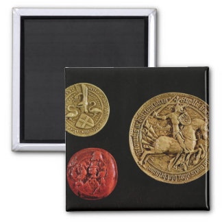 Seals of Gilles de Laval  Lord of Rais Refrigerator Magnet