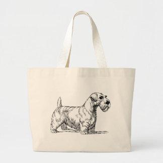 Sealyham Dog Large Tote Bag