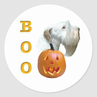 Sealyham Terrier Boo Classic Round Sticker