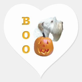Sealyham Terrier Boo Heart Sticker