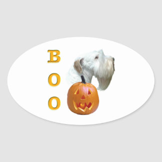 Sealyham Terrier Boo Oval Sticker