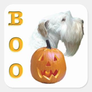 Sealyham Terrier Boo Square Sticker
