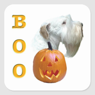 Sealyham Terrier Boo Square Sticker