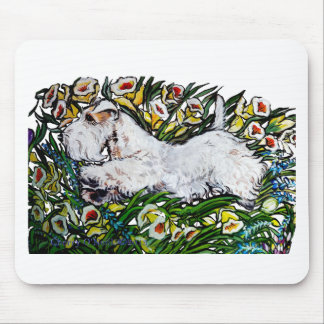 Sealyham Terrier Daffodils Mouse Pad