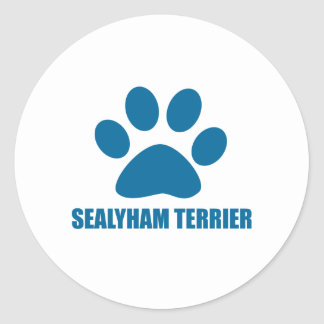 SEALYHAM TERRIER DOG DESIGNS CLASSIC ROUND STICKER