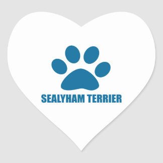 SEALYHAM TERRIER DOG DESIGNS HEART STICKER