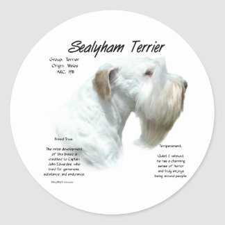 Sealyham Terrier History Classic Round Sticker