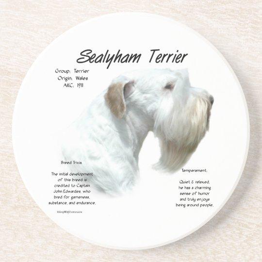 Sealyham Terrier History Coaster