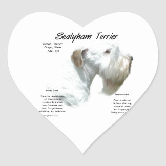 Sealyham Terrier History Heart Sticker