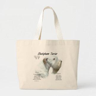 Sealyham Terrier History Large Tote Bag