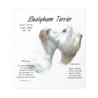 Sealyham Terrier History Notepad