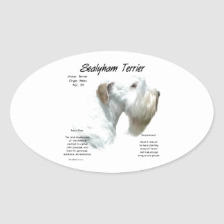 Sealyham Terrier History Oval Sticker