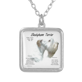 Sealyham Terrier History Silver Plated Necklace