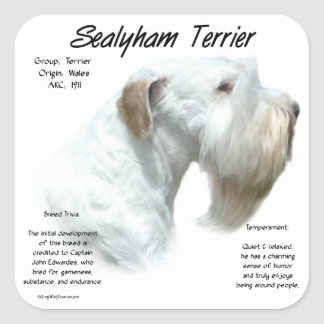 Sealyham Terrier History Square Sticker