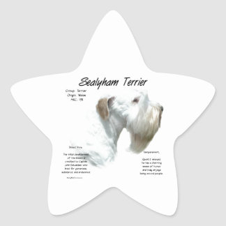 Sealyham Terrier History Star Sticker