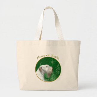 Sealyham Terrier Peace on Earth Large Tote Bag