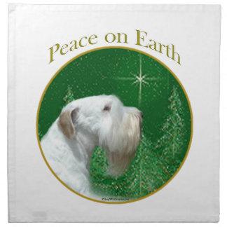 Sealyham Terrier Peace on Earth Napkin