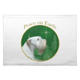 Sealyham Terrier Peace on Earth Placemat