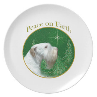 Sealyham Terrier Peace on Earth Plate