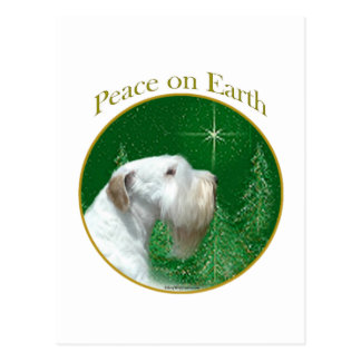 Sealyham Terrier Peace on Earth Postcard