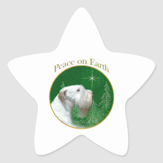 Sealyham Terrier Peace on Earth Star Sticker