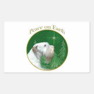 Sealyham Terrier Peace on Earth Sticker