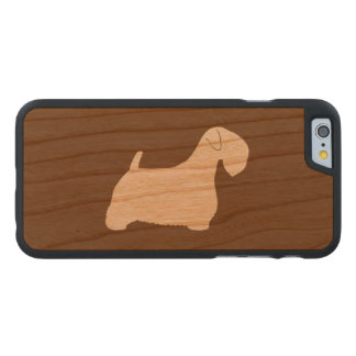 Sealyham Terrier Silhouette Carved Cherry iPhone 6 Case
