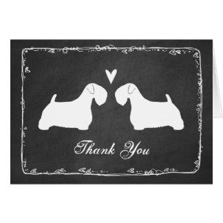 Sealyham Terrier Silhouettes Wedding Thank You Card