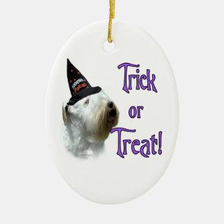 Sealyham Terrier Trick or Treat Ceramic Ornament
