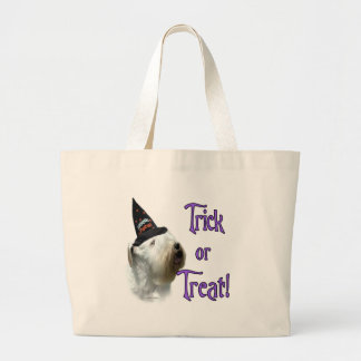 Sealyham Terrier Trick or Treat Large Tote Bag