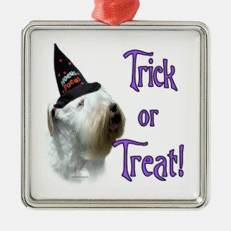 Sealyham Terrier Trick or Treat Metal Ornament
