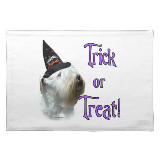 Sealyham Terrier Trick or Treat Placemat