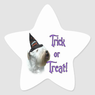 Sealyham Terrier Trick or Treat Star Sticker