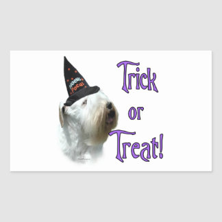 Sealyham Terrier Trick or Treat Sticker