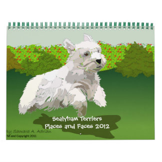 Sealyham Terriers Places and Faces 2012 Calendars