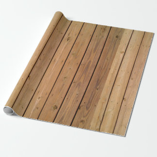 SEAM MATCHES: Wood Deck Wrapping Paper