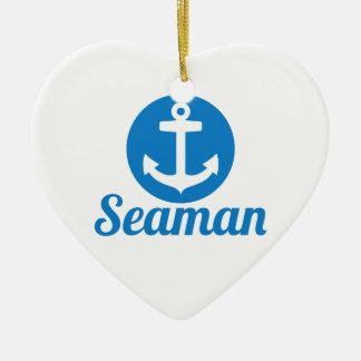 Seaman anchor ceramic ornament