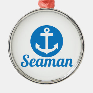 Seaman anchor metal ornament