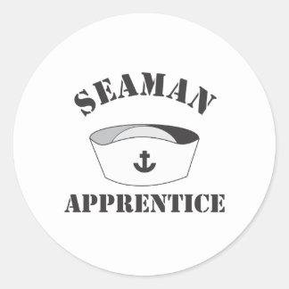 Seaman Apprentice White high Domed Cover Round Sticker