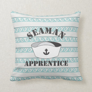 Seaman Apprentice White high Domed Cover Throw Pillow