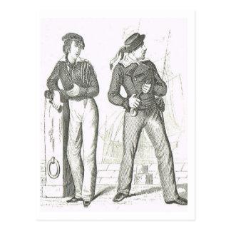 Seamen  1800s postcard