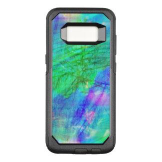 seamless art background watercolor blue, green OtterBox commuter samsung galaxy s8 case
