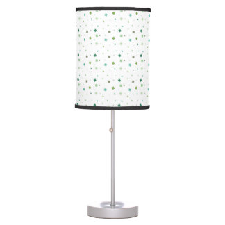 Seamless blue and green squares pattern Table Lamp