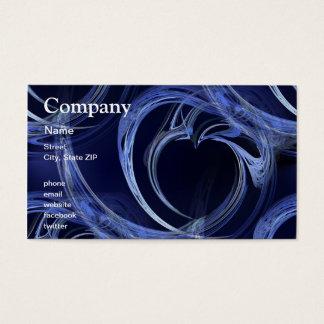 Seamless Blue Fractal Business Card