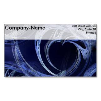 Seamless Blue Fractal Business Card Magnet