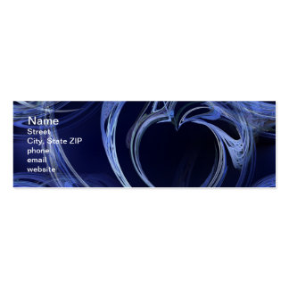 Seamless Blue Fractal Mini Business Card
