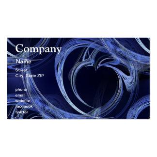 Seamless Blue Fractal Pack Of Standard Business Cards