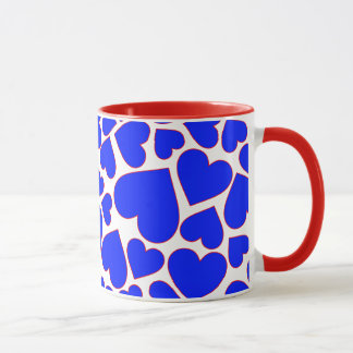 Seamless Blue  heart shape pattern Mug